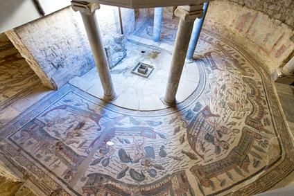 Mosaics in Villa Romana del Casale, Piazza Armerina, Sicilia, Italy, UNESCO World Heritage Site