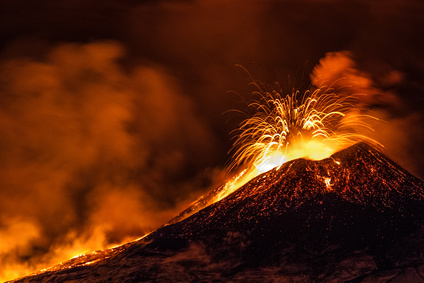 Eruption du volcan Etna